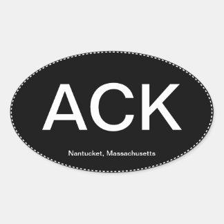 ACK Nantucket Oval Bumper Sticker