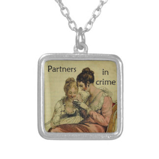 """Ackermann Friendship """"Partners in Crime"""" Silver Plated Necklace"""