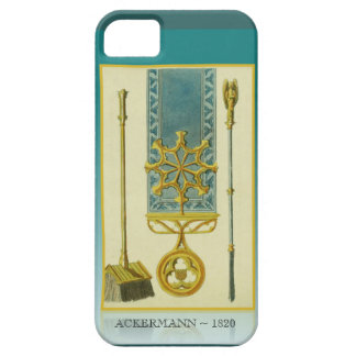 Ackermann Repository 1820 Gothic fireplace tools iPhone SE/5/5s Case