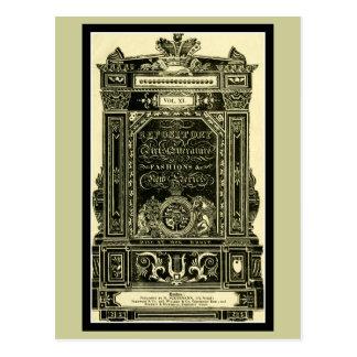 Ackermann's Repository of Arts Literature Fashion Postcard