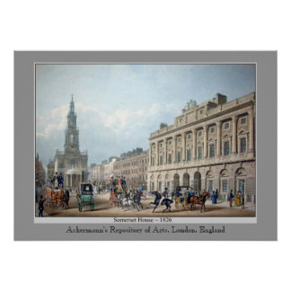 Ackermann's Repository Somerset House by Avon Poster