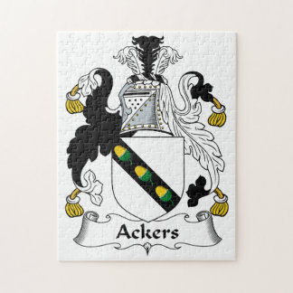Ackers Family Crest Jigsaw Puzzle