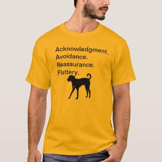 Acknowledgement. Avoidance. Reassurance. Flattery. T-Shirt