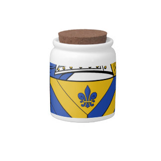 Ackroyd Family Coat of Arms & Family Crests Candy Jar