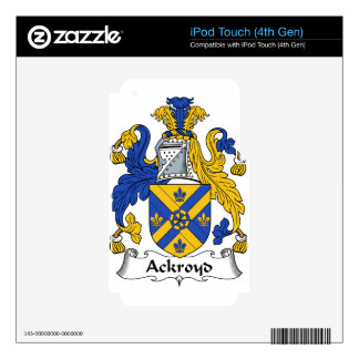 Ackroyd Family Coat of Arms & Family Crests Skin For iPod Touch 4G