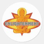 Aclaración de Buda Etiquetas Redondas