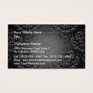 Aclaración del regalo especial floral gris y tarjeta de negocios