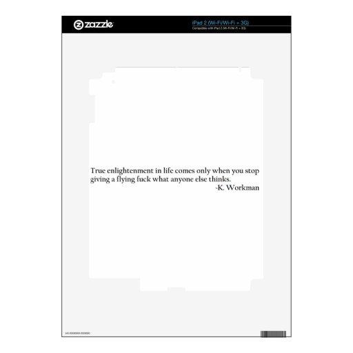 Aclaración verdadera calcomanías para el iPad 2