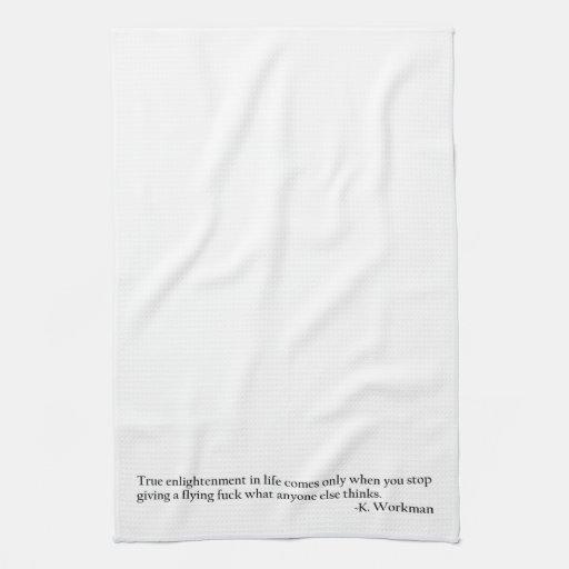 Aclaración verdadera toalla de mano