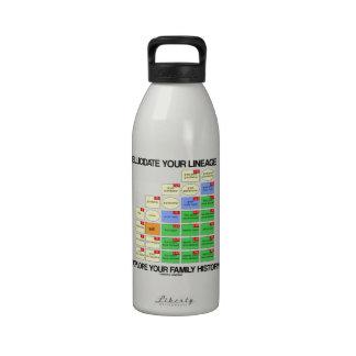 Aclare su linaje exploran sus antecedentes familia botella de agua reutilizable