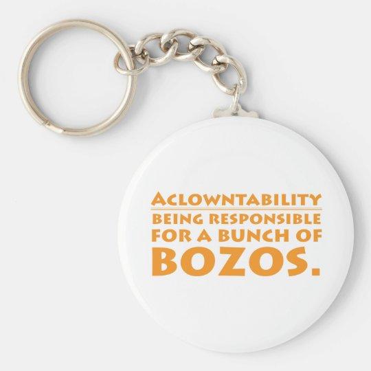 Aclowntability Keychain