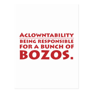 Aclowntability Postcard