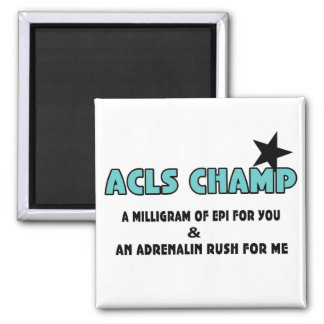 ACLS Champ 2 Inch Square Magnet