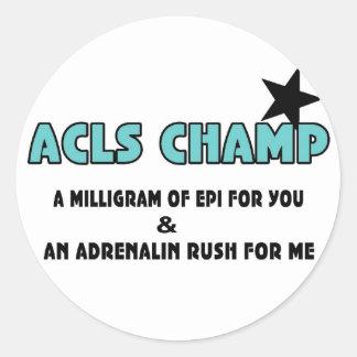 ACLS Champ Classic Round Sticker