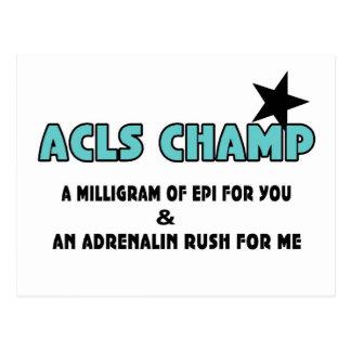 ACLS Champ Postcard