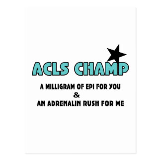 ACLS Champ Post Card