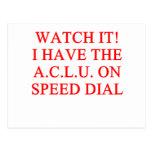 ACLU joke Postcard