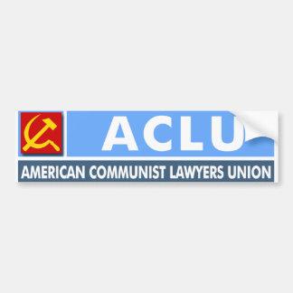 """ACLU: Pegatina """"de la unión comunista americana de Pegatina Para Auto"""