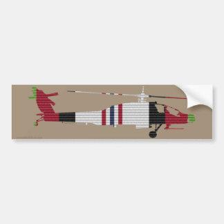 ACM Ribbon AH-64 Apache Bumper Sticker