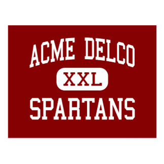 Acme Delco - Spartans - Middle - Delco Postcard