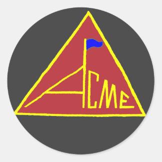 ACME_Flag-Sticker Classic Round Sticker