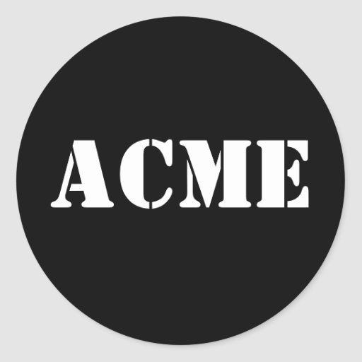 ACME novelty Round Sticker