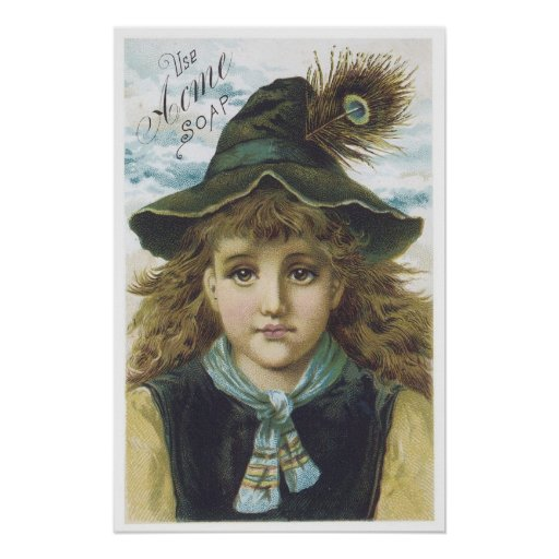 Acme Soap Feather Child Poster