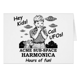 Acme Sub-Space Harmonica (Calls UFOs) Greeting Card