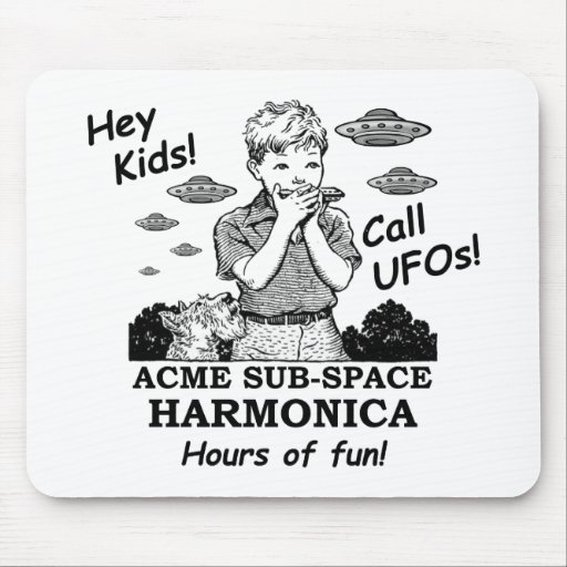Acme Sub-Space Harmonica (Calls UFOs) Mousepads