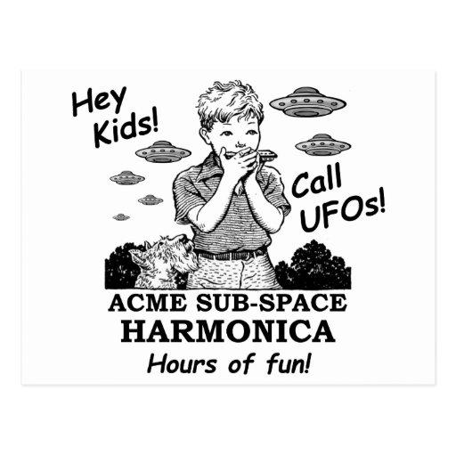 Acme Sub-Space Harmonica (Calls UFOs) Post Cards
