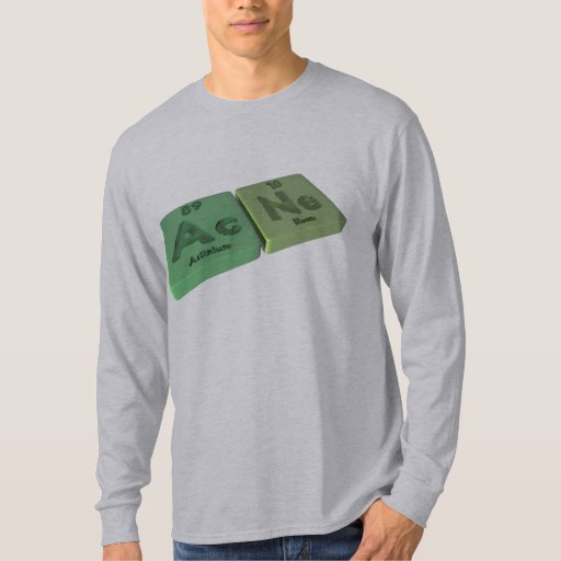 Acne as Ac Actinium  and Ne Neon Shirts