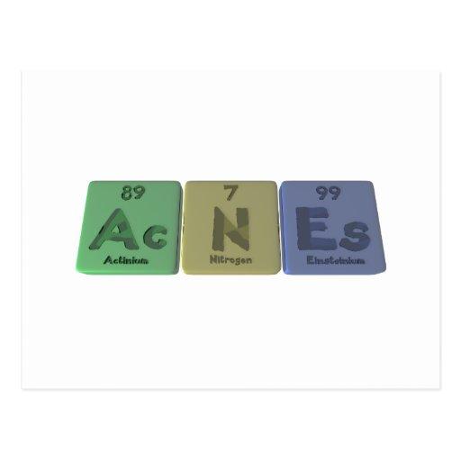 Acné-CA-n-Es-actinio-nitrógeno-Einsteinio Tarjetas Postales