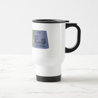 Acnes-Ac-N-Es-Actinium-Nitrogen-Einsteinium 15 Oz Stainless Steel Travel Mug