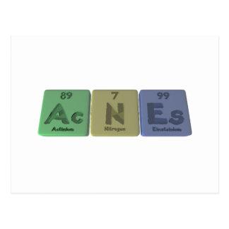 Acnes-Ac-N-Es-Actinium-Nitrogen-Einsteinium Postcard