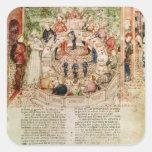 Acogen con satisfacción sir Galahad a la mesa Pegatina Cuadrada