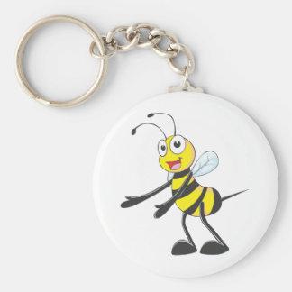 Acoger con satisfacción la abeja llavero redondo tipo pin