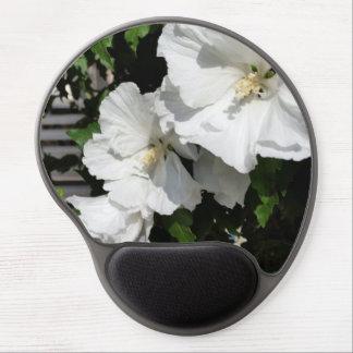 acoger con satisfacción las flores blancas alfombrillas de ratón con gel