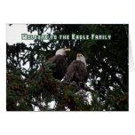 Acoja con satisfacción a Eagle a la familia, tarje Felicitacion