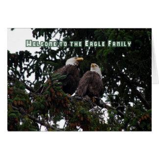 Acoja con satisfacción a Eagle a la familia, Tarjeta De Felicitación