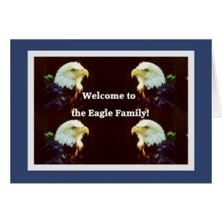 Acoja con satisfacción a Eagle a la familia Tarjeta De Felicitación