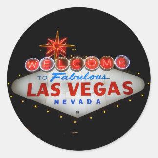Acoja con satisfacción a Las Vegas fabuloso a los Pegatinas Redondas