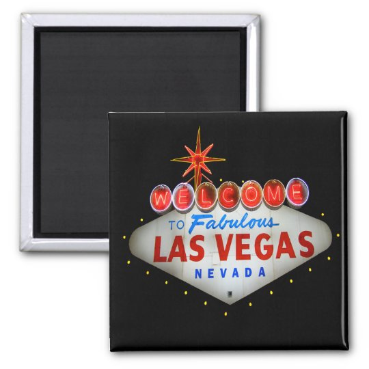 Acoja con satisfacción a Las Vegas fabuloso Nevada Imán Cuadrado