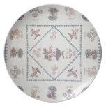 """Acolche en el """"Broderie Perse"""", c.1800 (aplicado,  Platos Para Fiestas"""