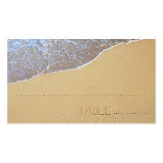 Acompañamiento de la arena de la playa tarjetas d plantilla de tarjeta de negocio