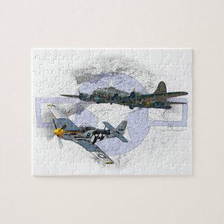 Acompañamiento del vuelo del mustango P-51 Puzzle