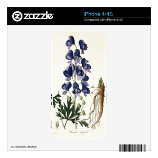 Aconitum Napellus from 'Phytographie Medicale' by Decal For iPhone 4
