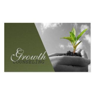 Aconsejando, terapeuta, espiritual, coche de la tarjetas de visita