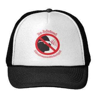 Aconséjese que… no consiento ser grabado gorras
