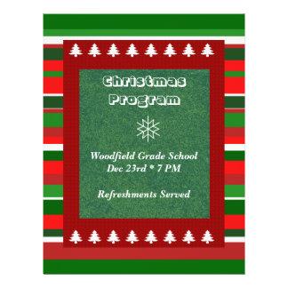 Acontecimiento adaptable: Programa del navidad Flyer A Todo Color