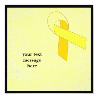 """acontecimiento amarillo de la cinta invitación 5.25"""" x 5.25"""""""